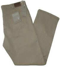 Pantalone uomo jeans taglie forti 62 64 66 68 HOLIDAY fustagno strech beige OVER