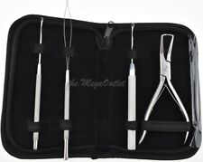 Hair Extension Removal & Fitting Pliers With Crochet, Loop & Pulling Needles Kit