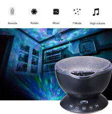 USB Light Relaxing Ocean Wave Music LED Night Light Projector Remote Lamp