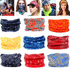 Men Women Bandana Scarf Lot Headband Head Wrap Face Mask Headwrap Balaclava Set
