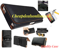 Leather Belt Clip Loop Holster Pouch Case Cover&Glass For Iphone 5s 6 Plus 8 7 X