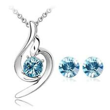 New Women Necklaces Crystal  Pendants Earrings Party Jewelry Sets Accessories