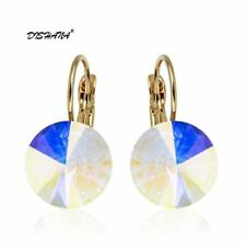 Earings Fashion Jewelry Famous Brand Austrian Crystal Earring Gold-color Drop Ea