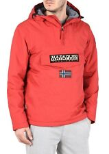 Napapijri Winter Rainforest Cagoule Jacket Sparkling Red SALE RRP £165