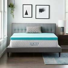 "NEW! COOL 3"" ULTIMATE LUXURY PLUSH MEMORY FOAM GEL BED MATTRESS PAD TOPPER"
