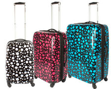 Polka Hard Shell Luggage 4 Wheel Spinner Expandable PC Suitcase Travel Bag