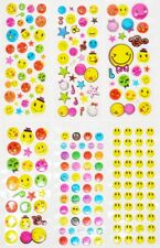 5 10 50 x Childrens SMILEY FACES Art & Craft Party Bag Stickers Sticker Sheets