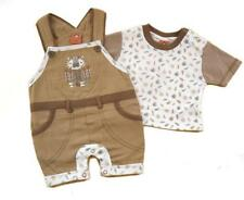 Baby Boys' outfits set cotton dungaree with tiger embroidery