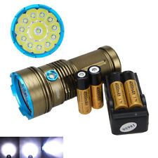Tactical 35000Lm XM-L T6 LED Flashlight Torch Hunting 4x18650 Light Charger USCC