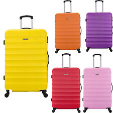 Flymax Lightweight Hard Shell Suitcase 4 Wheel Spinner ABS Luggage Large Medium