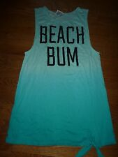 "VICTORIAS SECRET PINK ""PINK"" ""BEACH BUM"" BEACH SWIM LONG COVERUP NWT"