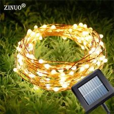 Solar Garland 10M 15M Copper Wire LED String Christmas Light Outdoor New Year Fa