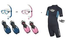 Mares Tiburón FLEX SET DE SNORKEL CON abc-set y SHORTY TALLA 27-36 dif. colores