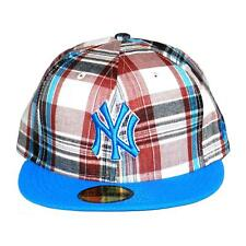 New Era Tartán Pop New York Yankees MLB PITCHING Gorra, rojo / Azul, 91515