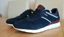 Geox Amphibiox Gektor Navy / Red Men's Suede Leather Casual Sneakers Trainers