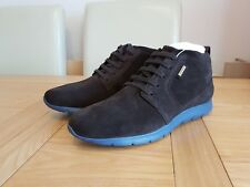 Geox Amphibiox Gektor Coffee / Blue Men's Suede Leather Casual Sneakers Trainers