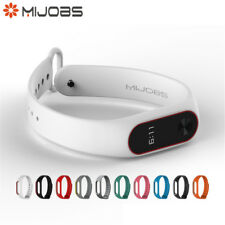 Mijobs Strap For Xiaomi Mi Band 2 Single / Dual Color Silicone Wrist Strap GY