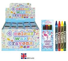 UNICORN WAX CRAYON PACKS Kids Birthday Party Bag Fillers Favors Pony Toy Gift UK