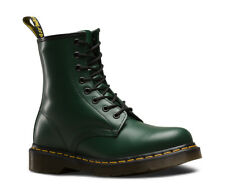 Dr Martens Unisex 1460 Green Classic Smooth Leather 8 Eye Ankle Doc Boots