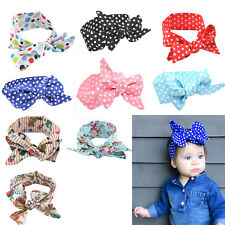 Newborn Headband Floral Ribbon Elastic Baby Headdress Kids Hair Band Bow Knot