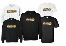 3 SCIMMIE SAGGE EMOTICONS unisex t-shirt felpa Accosta Hoodie REGALO DIVERTENTE