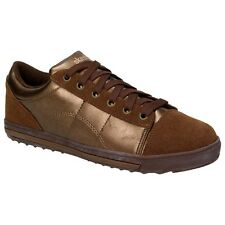 Skechers Kicks Ladies Fashion Leather Trainers Shoes Slip On Lace-Up Bronze