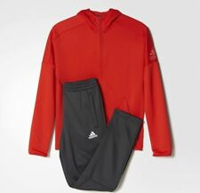 adidas boys ID red / dark grey tracksuit. Jogging suit. Warm up suit. Age 13-14Y