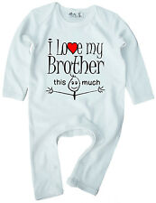 """Brother Ropa Bebé """"I Love My Brother This Much"""" Bebé Pelele Regalo"""