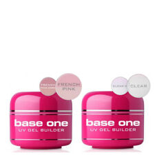 Base One Clear French Pink Acid Free UV Gel Nail BUILDER 5g 15g 30g 50g Silcare