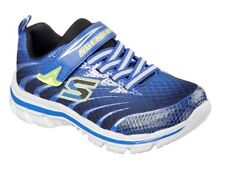 Skechers Boys Nitrate Pulsar Royal & Black Trainers - 100% Positive Reviews