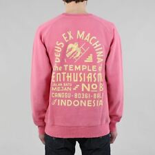 Deus Ex Machina Sunbleached Enthusiasm Crewneck Sweatshirt Rose Pink/Yellow