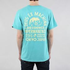 Deus Ex Machina Men's Sunbleached Impermanence Pocket T-shirt Lagoon Blue/Yellow
