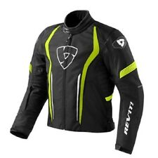 Chaqueta de motociclista sportiva racing Rev'it Revit Escudo negro amarillo