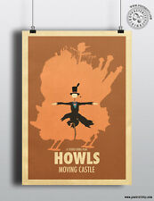 HOWLS MOVING CASTLE - Minimalist Studio Ghibli Movie Poster Minimal Posteritty