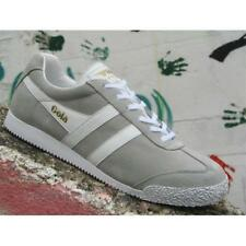 Scarpe Gola Harrier Suede CMA192GP Uomo Sneakers Grey White Casual Moda