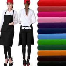 Plain Apron Tow Pocket Chefs Butcher Kitchen Cooking Craft Catering Baking BBQ