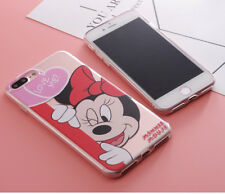 IPHONE 6/6S _ COQUE SOUPLE PLASTIQUE TPU TRANSPARENTE DESSIN DISNEY MICKEY MINNI