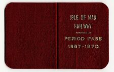 Isle of Man IMR & Manx Northern Railway rare tickets & leather pass 1880s-1970s
