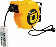 15M Electric Retractable Power Cord Reel With UK Standard Plug&Wire Design