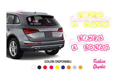 ADESIVO BIMBO BIMBA A BORDO BABY ON BOARD CON CUBI ADESIVI STICKERS TUNING AUTO