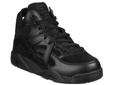 Fila women's high top fashion trainers lace up athletic shoes in black leather