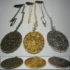 Colgante Piratas del Caribe Moneda Azteca Necklace Pirates of the Caribbean
