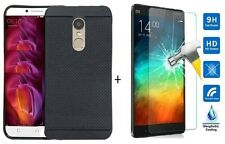 For Xiaomi Redmi Note 4 Back Cover Black Dotted Rubberized Soft Cover ,,Case,,