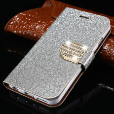Case Cover  For Huawei P8 P9 P10 LiteMagnetic Flip Stand Bling Glitter Wallet