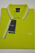 HUGO BOSS POLO UOMO REGULAR-FIT MOD. PADDY IN PIQUE' COLORE GIALLO LIME 50302557