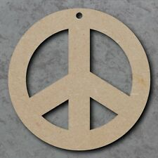Large MDF Peace Circle Shape Blank Wood 20,30cm Unpainted (03)