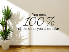 Shots You Didn't Take Wall Art Quote, Wall Art Sticker, Modern Decal