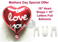 """16"""" Letters MUM Foil Balloons for Mothers Day Celebration I love You Mum baloons"""