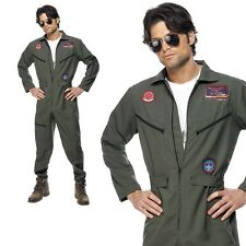 Uomo ufficiale TOP GUN aviatore pilota Travestimento Costume adulto FILM TV 1980