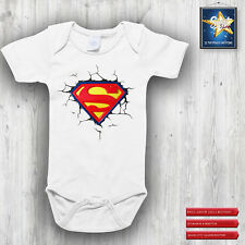 Body neonato BIMBA BIMBO SUPERBABY superman idea regalo Nascita Alta qualità